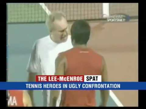 Leander Paes & John McEnroe Heated Argument In Court