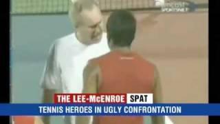 Leander Paes & John McEnroe Heated Argument In Court