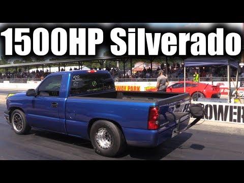 Twin Turbo Silverado Unleashed Against some FAST Corvettes