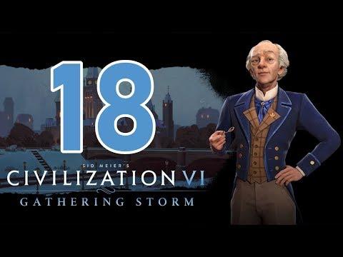 Прохождение Civilization 6: Gathering Storm #18 - Золотой век [Канада - Божество]