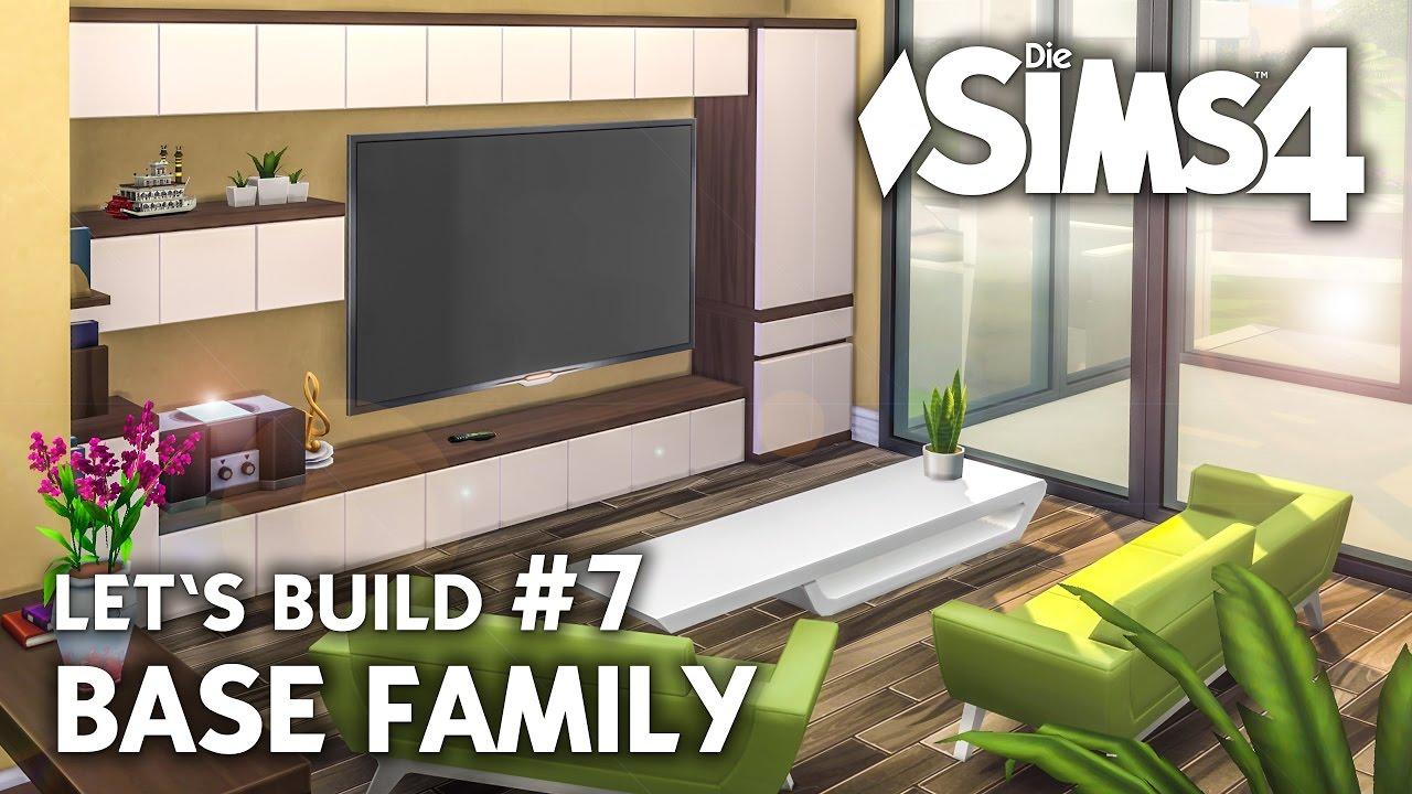 Die Sims 4 Haus bauen ohne Packs | Base Family #7: Wohnzimmer ...