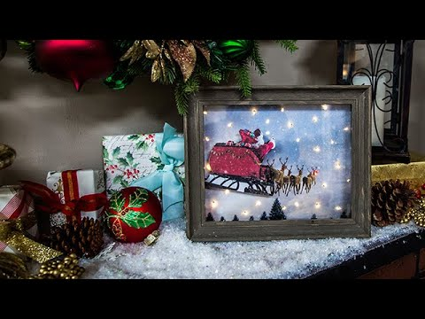 photo relating to Home and Family Christmas Workbook named Do-it-yourself Shadow Box Xmas Scene - Property Household