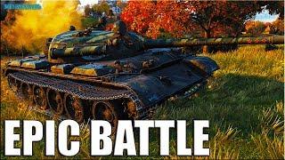 Почти 10К УРОНА на Т 55А 🌟 World of Tanks лучший бой ст 9