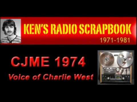 CJME Charlie West Regina Saskatchewan - 1976 ARCHIVED RADIO