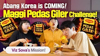 """[HOT SPICY] Maggi Pedas Giler : Tom Yummz Challenge!"" Korean Friends Mukbang Reaction_EP04"