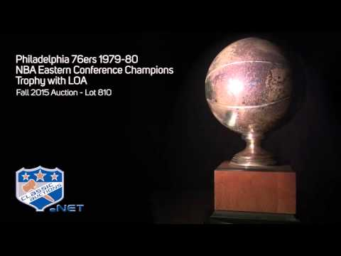 Philadelphia 76ers 1979-80 NBA Eastern Conference Champions Trophy with LOA