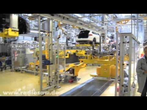 Einmaliger Blick ins Porschewerk Leipzig