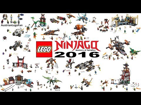 Lego Ninjago 2016 Compilation of all Sets - Lego Speed Build Review