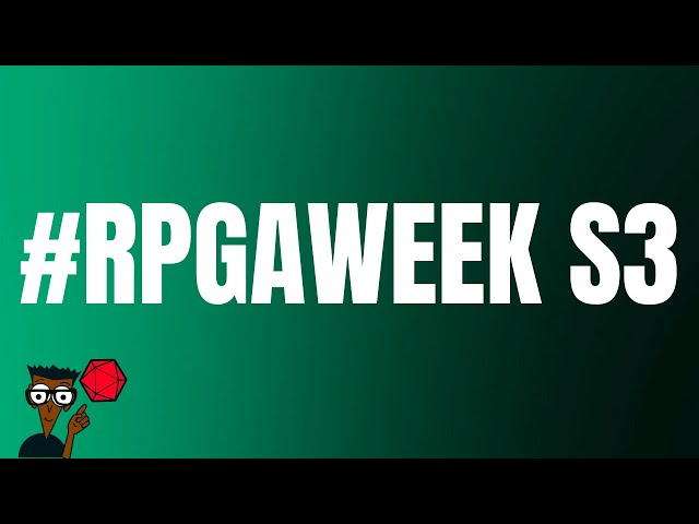 #RPGaWeek Saison 3 : Le Lancement