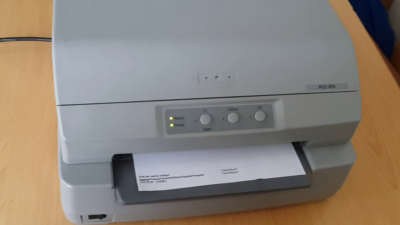 Cara Test Print Manual Printer Epson Plq 20 Youtube