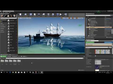 UE4 - Community FREE Ocean Project - Frame rate settings