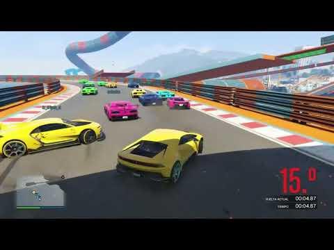 SUPER PARKOUR IMPOSIBLE!! SALTA!!   CARRERA GTA V ONLINE   GTA 5 ONLINE