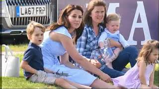 Kate Enjoys Family Day Out With George And Charlotte At The Polo