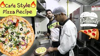 How to make Pizza   Cafe Style Pizza Recipe   My kind of productions  Valentine's Special