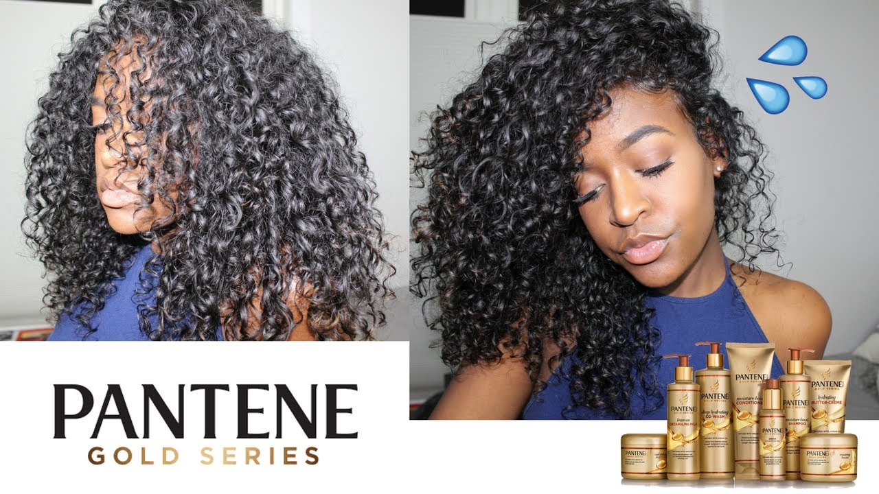 Pantene Gold Series Curly Hair Routine Youtube