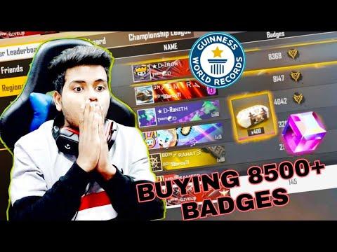 India Region 2020 No.1 Elite Pass Badges Buying 8500+ Badges Garena Free Fire