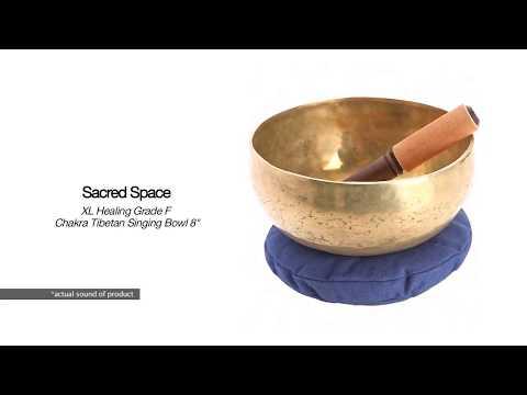 Sacred Space XL Healing Note F Chakra Tibetan Singing Bowl 8