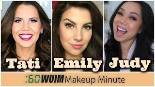 Makeup Minute | BIG YOUTUBER NEWS! Tati @Glamlifeguru, Emily @emilynoel83, & Judy @itsjudytime!