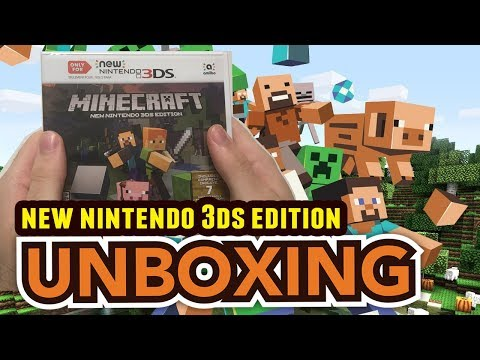 Minecraft NEW Nintendo 3DS Edition Unboxing !!