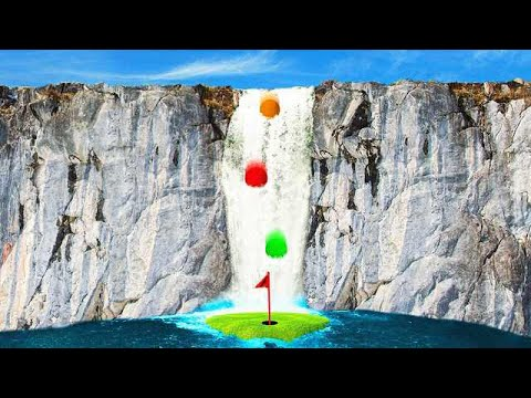 MILE HIGH WATERFALL HOLE IN ONE! (Golf It)