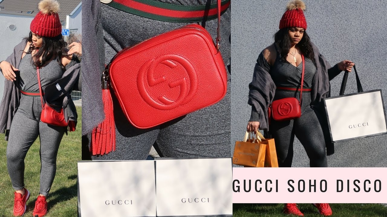 a266d3521526 RED ♥ GUCCI SOHO DISCO UNBOXING + mini LOUIS VUITTON HAUL - YouTube