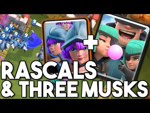 Clash Royale | Three Musketeers + Ranscals, Will it Work? (Rascals challenge)