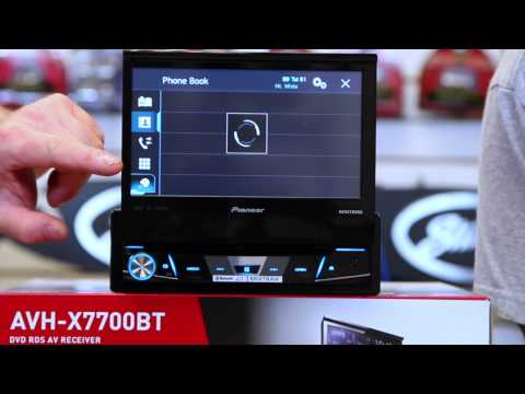 The new 2015 Pioneer AVH x7700BT fold out radio