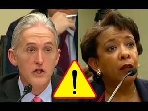 """Trey Gowdy Confronts Loretta Lynch! """"Did You Send Classified Info on A Personal Email Like Hillary?"""""""