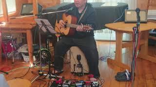 カホン+ギターボーカル同時演奏.