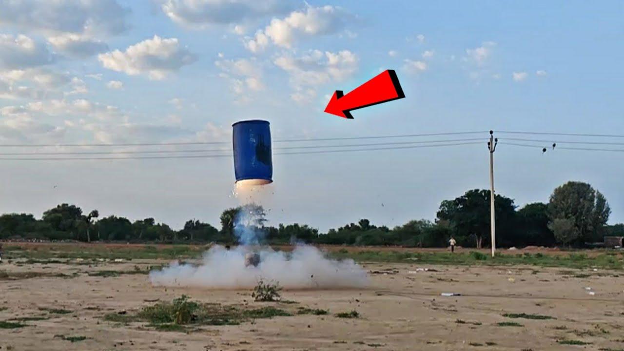अब ये ड्रम पहुँचेगा आकाश में - Flying Powerfull Drum Rocket In Sky - 100% Working
