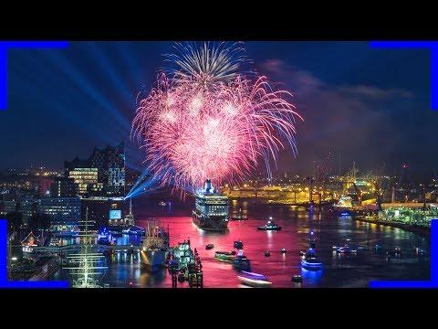 Taufe Der Mein Schiff 6 Spektakuläre Sicht Von Einem Hotel 4k Video