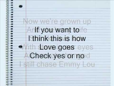 Check Yes Or No by George Strait Lyrics