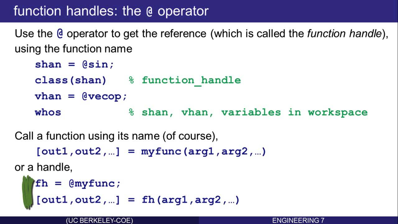 Advanced Functions in Matlab: Part 1 (of 8) - YouTube