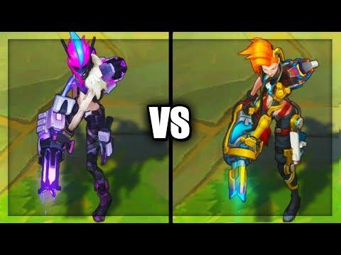 PROJECT: Jinx vs Odyssey Jinx Epic Skins Comparison (League of Legends)
