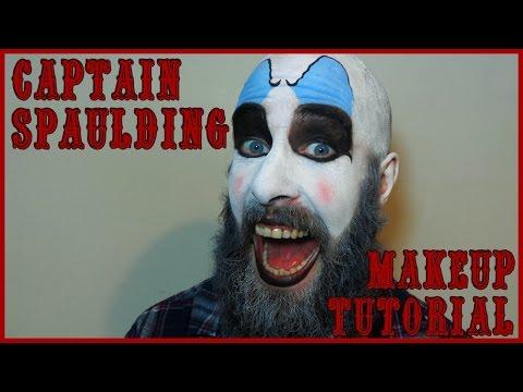 Captain Spaulding Makeup Tutorial.Quick Easy Halloween Clown