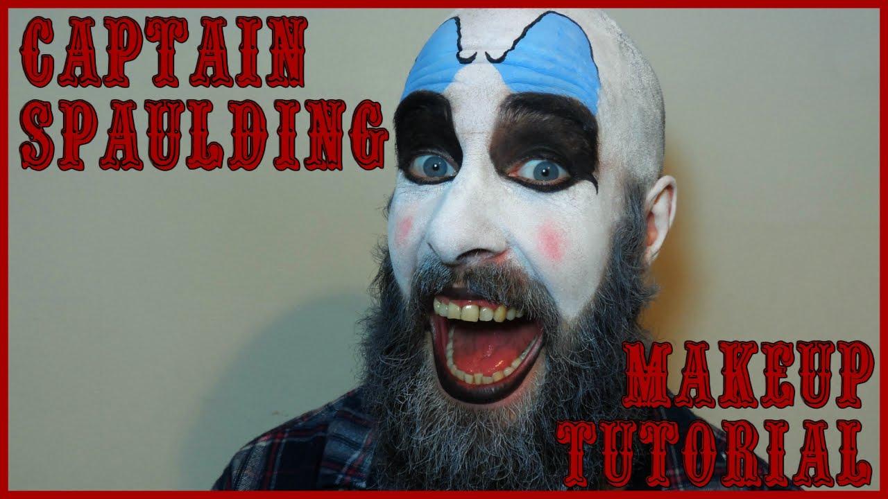 Captain Spaulding Makeup Tutorialquick Easy Halloween Clown Youtube