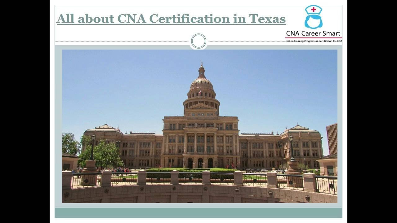 How To Become A Certified Nursing Assistant In Texas Youtube