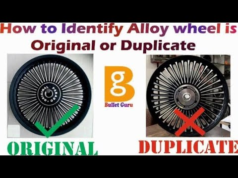 How to Identify Alloy wheel is Original or Duplicate   Fake or Real Alloy wheels