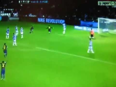 Valladolid 1 - Barcelona 3 (22/12/2012) Todos los Goles | All Goals Messi 91 Goles