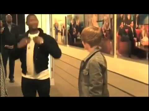 Justin Bieber,Usher,& Brian Mercurio - Backstage on The Ellen Degeneres Show
