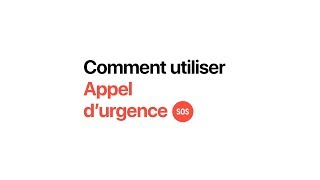 Apple Watch Series 4 - Comment utiliser Appel d'urgence - Apple