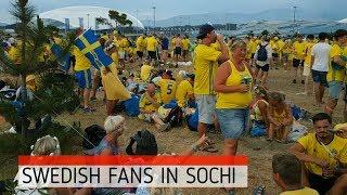 Шведские фанаты на Имеретинской набережной в Сочи(Swedish fans in Sochi)