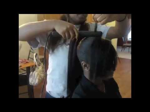 Diva Ponytail With Side Bangs Youtube