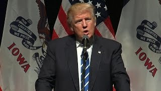 Full Video: Trump comments on DNC at Iowa rally