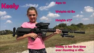 AR 15- Precision Guided Firearm (PGF) Shot By 10 Year Old Girl.