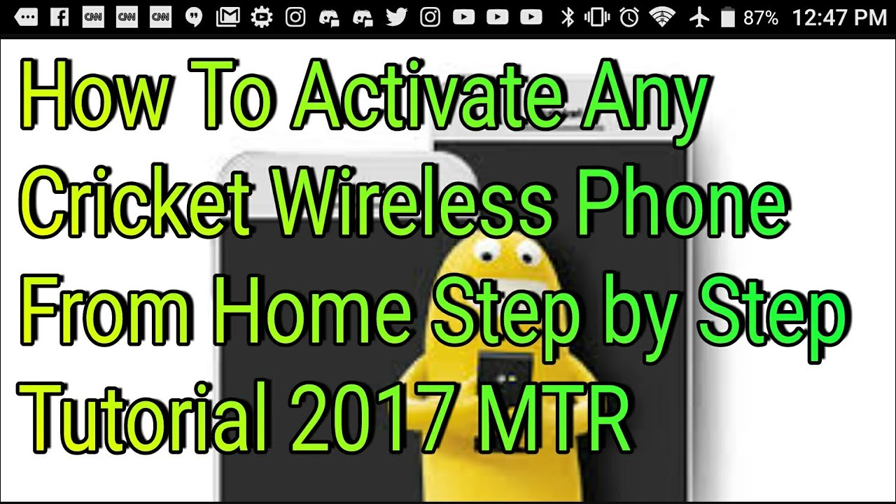 How To Activate Any Cricket Wireless Phone From Home Step by Step Tutorial  2017 MTR
