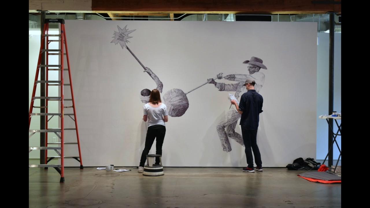 Ethan Murrow Wall Installation 2017 & Ethan Murrow Wall Installation 2017 - YouTube