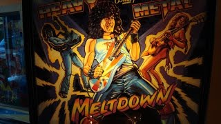 Heavy Metal Meltdown Pinball Machine - 1986 Madness!  Bally Classic