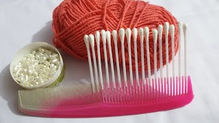2020 wow comb amazing idea hand embroidery beautiful woollen flower trick and tricks