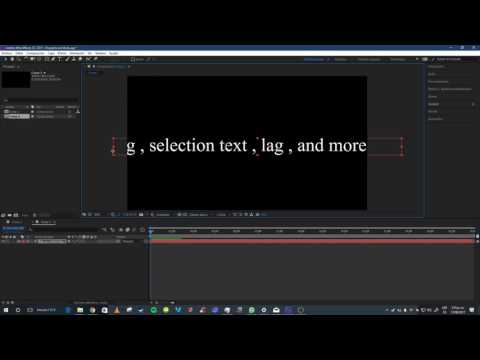 Lag and Stutter Affter Effects CC 2017